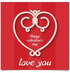 Just sweet love design card for 14 february vector image