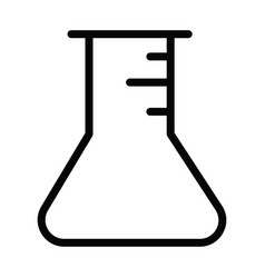 laboratory test tube round with outline style vector image