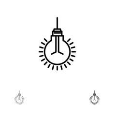 Light bulb idea tips suggestion bold and thin vector