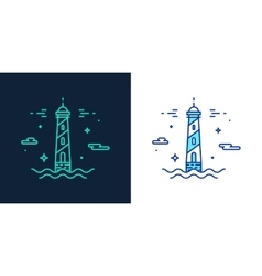 Linear style icon of a lighthouse vector
