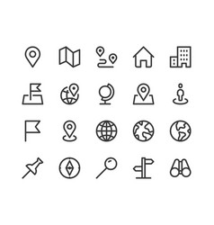 location line icon minimal vector image