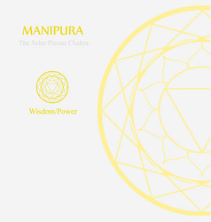 Manipura- solar plexus chakra vector