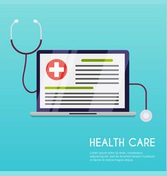 medical concept flat design style modern vector image