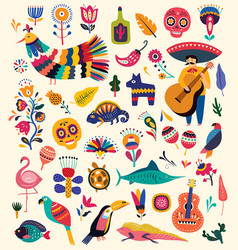 mexico collection vector image