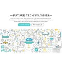 Modern line flat design Future technology vector