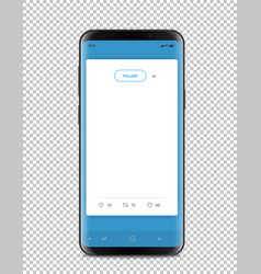 Modern smartphone with messenger interface vector