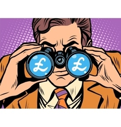 Monitoring the currency pound exchange rate vector
