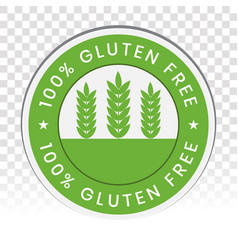 No-gluten icon or gluten free food label vector
