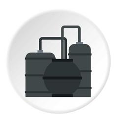 Oil refinery icon circle vector