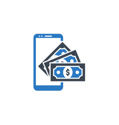 on wallet related glyph icon vector image