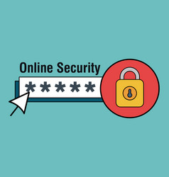 Online security with padlock icons vector