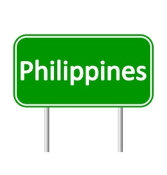 Philippines road sign vector