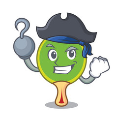 Pirate ping pong racket character cartoon vector
