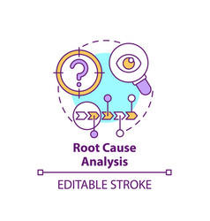 Root cause analysis concept icon vector