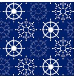 Seamless pattern made of steering wheels vector