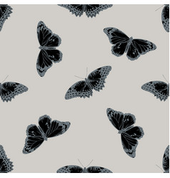 seamless pattern with hand drawn stylized cethosia vector image
