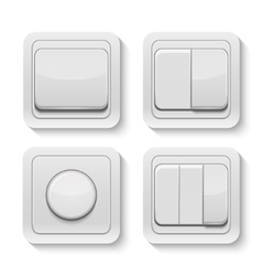 set realistic switches vector image