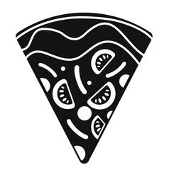 slice mozzarella pizza icon simple style vector image