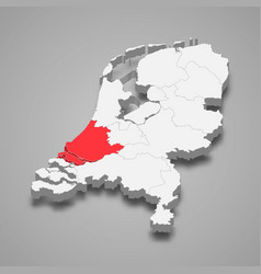 South holland province location within vector