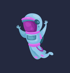 spaceman character in space suit astronaut flying vector image