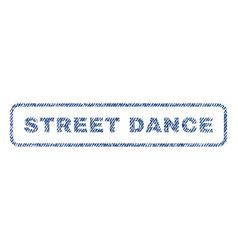 Street dance textile stamp vector