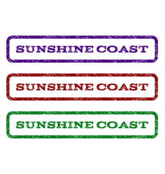 Sunshine coast watermark stamp vector
