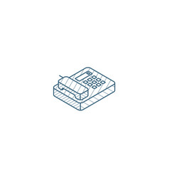 telephone office phone isometric icon 3d line art vector image