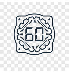time concept linear icon isolated on transparent vector image