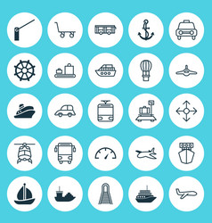 Transportation icons set collection of vehicle vector
