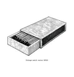 vintage match hand drawing vintage clip art vector image