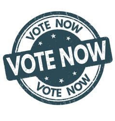 Vote now sign or stamp vector