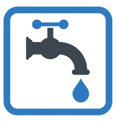 Water Tap Flat Icon vector image