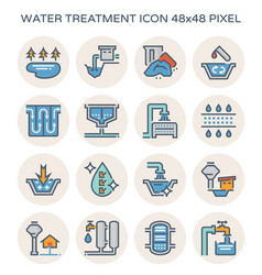 water treatment icon vector image