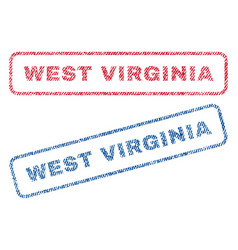 West virginia textile stamps vector
