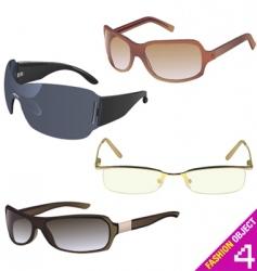 Women's glasses vector
