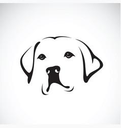 a dog headlabrador retriever on white vector image vector image