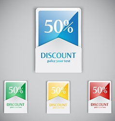 discount cards vector image vector image