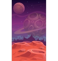 Fantastic alien landscape vector image vector image