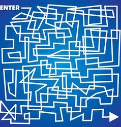 line maze business theme vector image