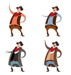 Set of cowboys vector image