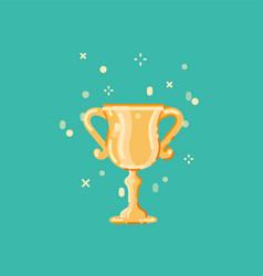 winner cup flat design vector image