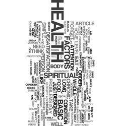 your health text word cloud concept vector image