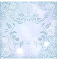 abstract background with floral calligraphic frame vector image vector image