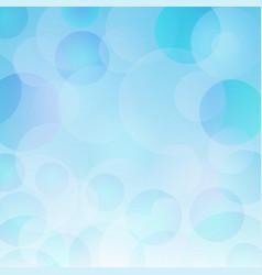 beautiful abstract blue bokeh light backrgound vector image