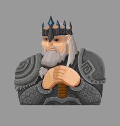 Cartoon king 4 vector image