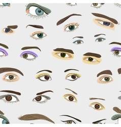 Colored Eyes set pattern vector image