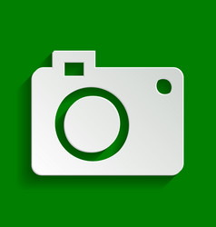 digital camera sign paper whitish icon vector image