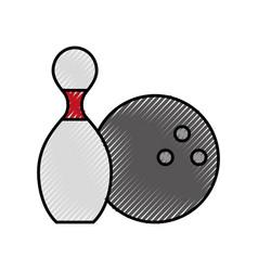 scribble pin and ball cartoon vector image