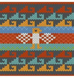 seamless traditional peru knitting pattern vector image vector image