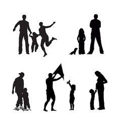 adult and children vector image